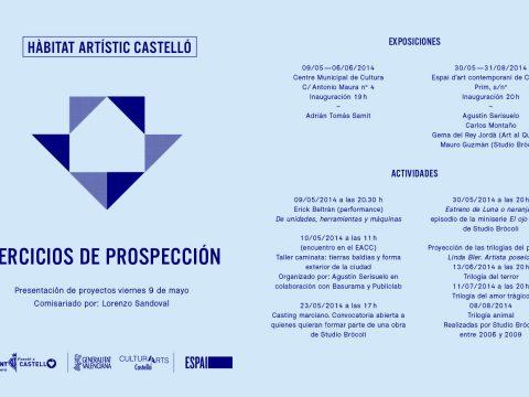 Becas Hàbitat Artístic Castelló / Gema del Rey y Agustín Serisuelo