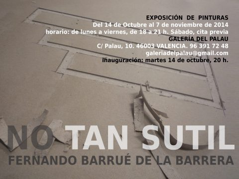 No tan sutil / Fernando Barrué