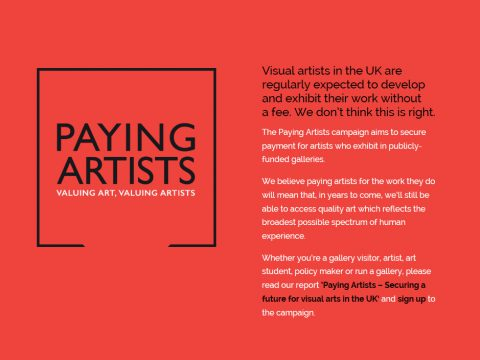 Paying Artists / Pagar a lo/as artistas