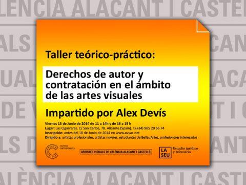 TALLER en Alicante: Contratación y derechos de autor